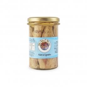 Mackerel fillets in olive oil, 300 gr - Ittica Capo San Vito