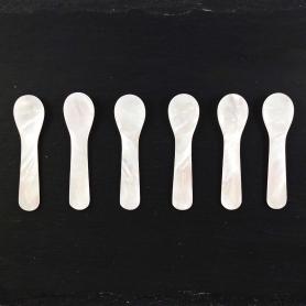 Small mother of pearl spoons - Set 6 pcs - Tutto per il caviale