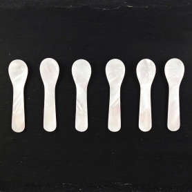 Set 6 pz cucchiai in madreperla piccoli