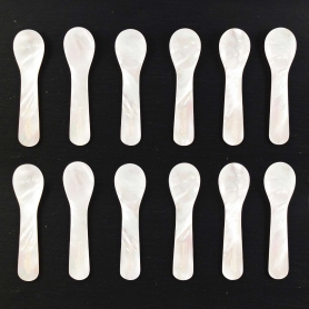 Small mother-of-pearl spoons - 12 pcs set