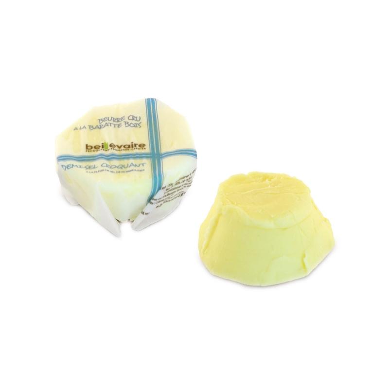Burro a latte crudo con sale in cristalli, 20 gr, Confezione da 50 pz - Beillevaire