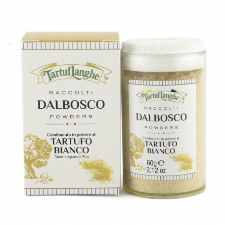 """Condimento in polvere di Tartufo Bianco """"DalBosco"""", 60 gr - Tartuflanghe - Tartufo"""