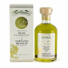 Oro in cucina: huile d'olive extra vierge à la truffe blanche, 100ml - Tartuflanghe