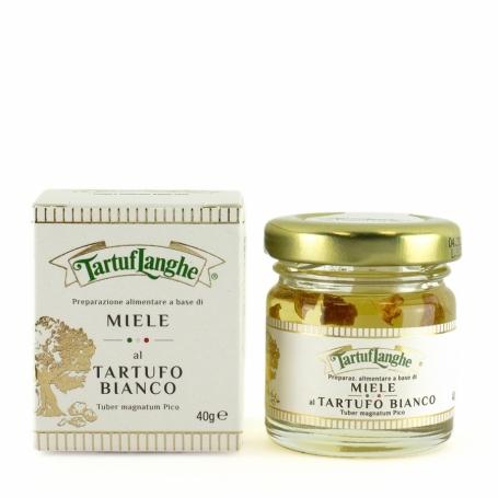 La préparation des aliments fabriqués à partir de miel d'acacia à la truffe blanche, 50 gr - Tartuflanghe
