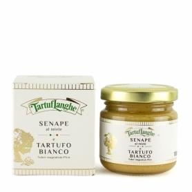 Moutarde au miel et à la truffe blanche, 100 gr - Tartuflanghe