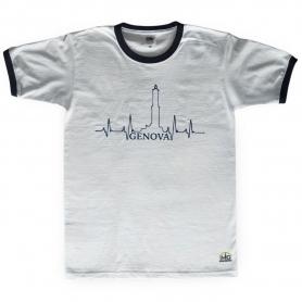 T-Shirt Bianca (bordo nero) del Mugugno Genovese - Il Mugugno genovese