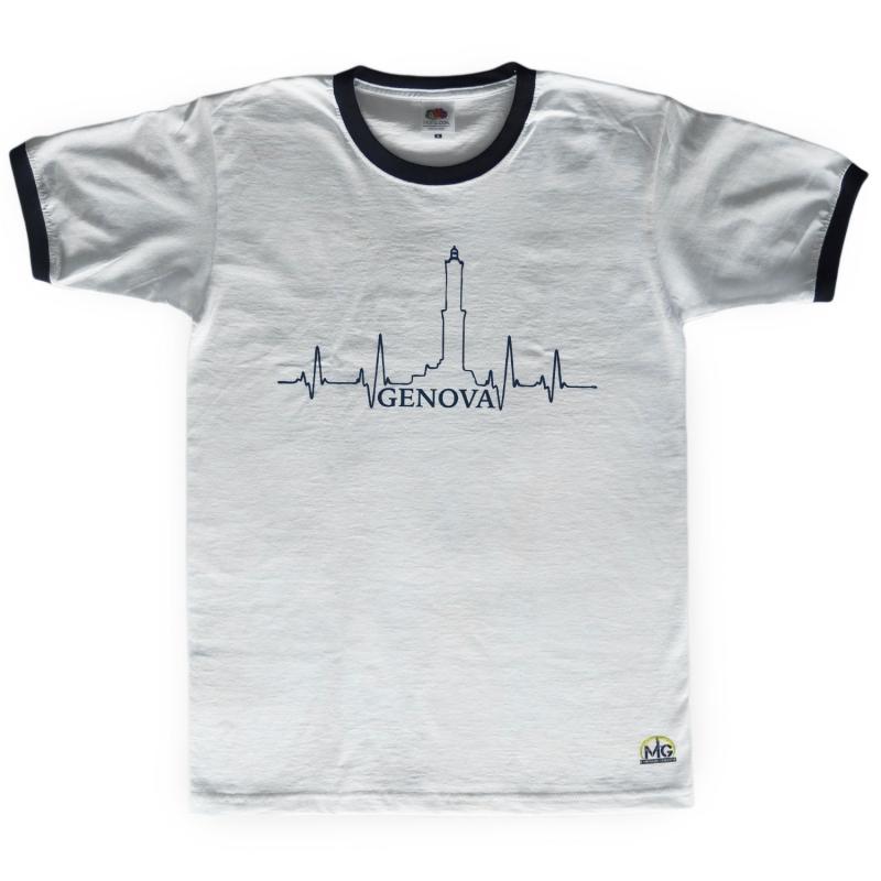 T-Shirt Bianca (bordo nero) del Mugugno Genovese