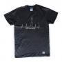 T-Shirt Nera del Mugugno Genovese
