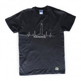 T-Shirt Nera del Mugugno Genovese - Il Mugugno genovese