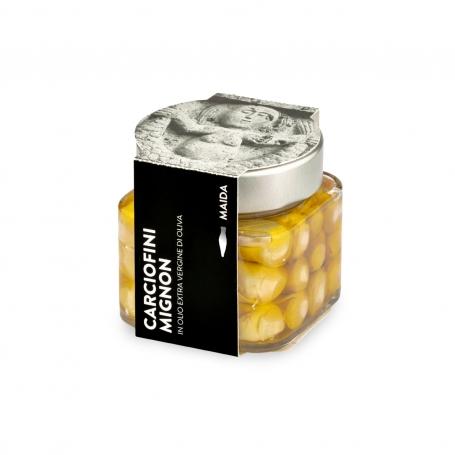 Carciofini mignon in olio extravergine di oliva, 190 gr - Maida
