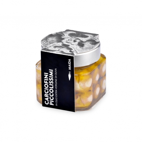 Carciofini piccolissimi in olio extravergine di oliva, 190 gr - Maida