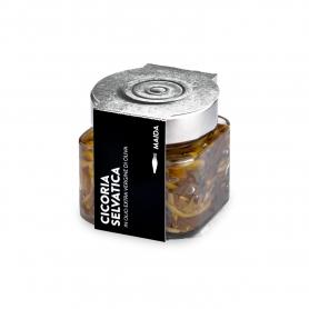 Cicoria selvatica in olio extravergine di oliva, 190 gr - Maida