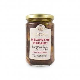 Melanzane piccanti in olio di oliva, 280 gr - Bon'Ora