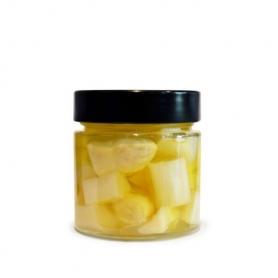 Asparagi bianchi a pezzettoni agrodolci in olio, 210 ml - La Giardiniera di Morgan