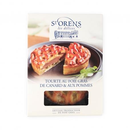 Torta di Foie Gras e mele, 130 gr - Les Delices Saint Orens - Pollo e Volatili