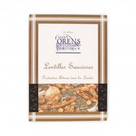 Saucisses de canard et lentilles, 350 gr - Les Délices de Saint Orens