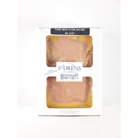 Foie gras entier d'oie I cuit - Nature, 450 gr - Jeanne Bertot