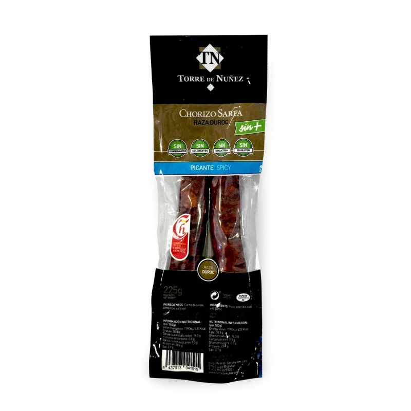 Chorizo Sarta Extra Picante Razza Duroc, 225 gr - Torre de Nunez