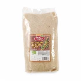 Zucchero greggio di canna Biologico, 1 kg - Sanebontà
