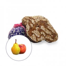 Colombe artisanale avec poire confite et pêche, 1 kg