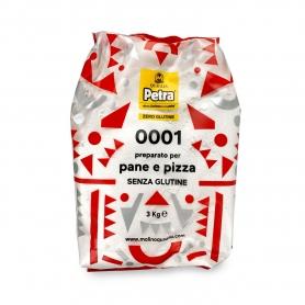 Farina 0001 senza glutine per pane e pizza, 3 kg - Petra - Farina di grano e cereali