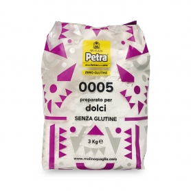 Farina 0005 senza glutine per dolci, 3 kg - Petra - Farina di grano e cereali