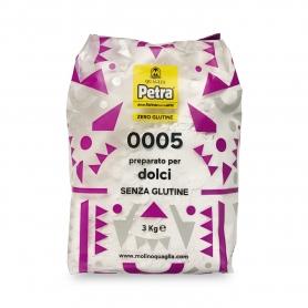 Farina 0005 senza glutine per dolci, 3 kg - Petra