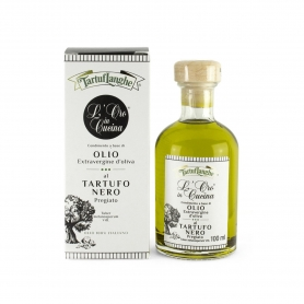 Dressing made with extra virgin olive oil and precious black truffle, 100ml - Tartuflanghe