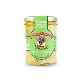 Filets de morue à l'huile d'olive, 200gr - Vicente Marino