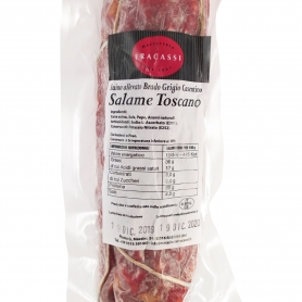 Salami toscan entier (porc élevé par Brado), 500gr - Macelleria Fracassi