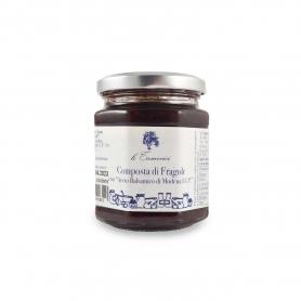 Composta di fragole all'aceto balsamico, 220 gr. - Le Tamerici