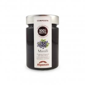 Composta di mirtilli, 350 gr - Alpenzu - Confetture e marmellate