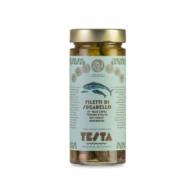 Horse mackerel fillets in EVO oil, 290 gr - Testa Conserve