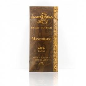 Mascobado chocolat chocolat fait main, 70 gr - Donna Elvira