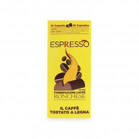 capsules Espresso, boîte 10 pièces compatibles. - Café Ronchese
