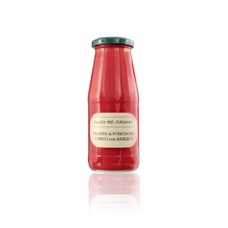 Fresh red tomato sauce with basil, 420 ml - Taste of Salento