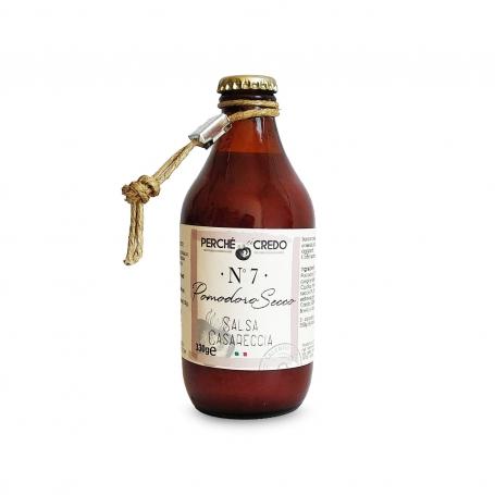 Salsa Casereccia al Pomodoro secco, 330 gr - Perché ci credo - Sughi di Pomodoro