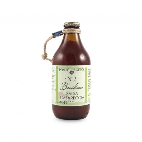 Homemade sauce with basil, 330 gr - Perché ci credo