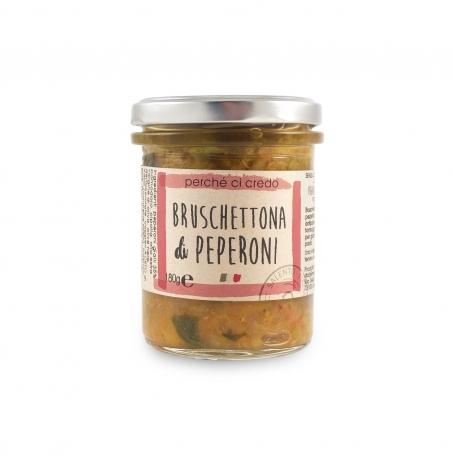 Bruschettona di Peperoni, 180 gr - Perché ci credo