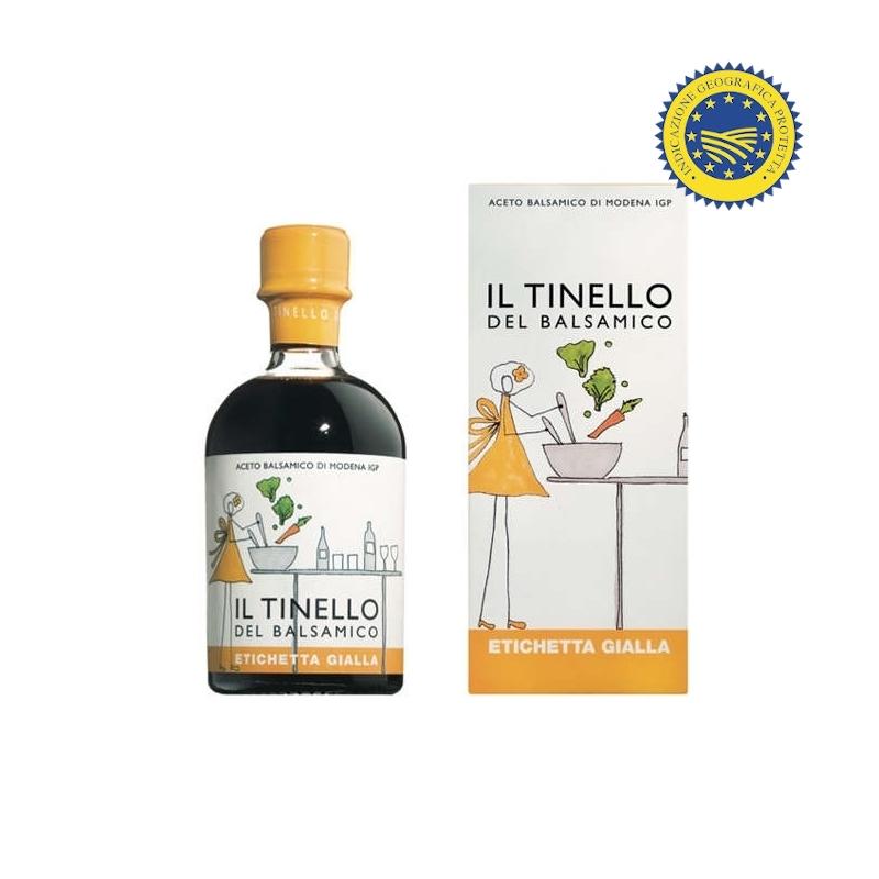 """Balsamic Vinegar of Modena IGP of the Tinello """"Yellow Label"""", 250 ml - Il Borgo del Balsamico"""