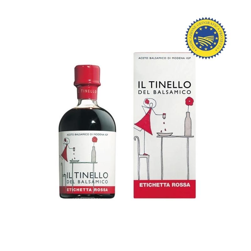 """Balsamic Vinegar of Modena IGP of the """"Red Label"""" Tinello, 250 ml - Il Borgo del Balsamico"""