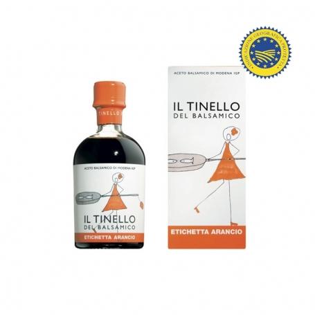 """Balsamic Vinegar of Modena IGP of the Tinello """"Etichetta Arancio"""", 250 ml - Il Borgo del Balsamico"""