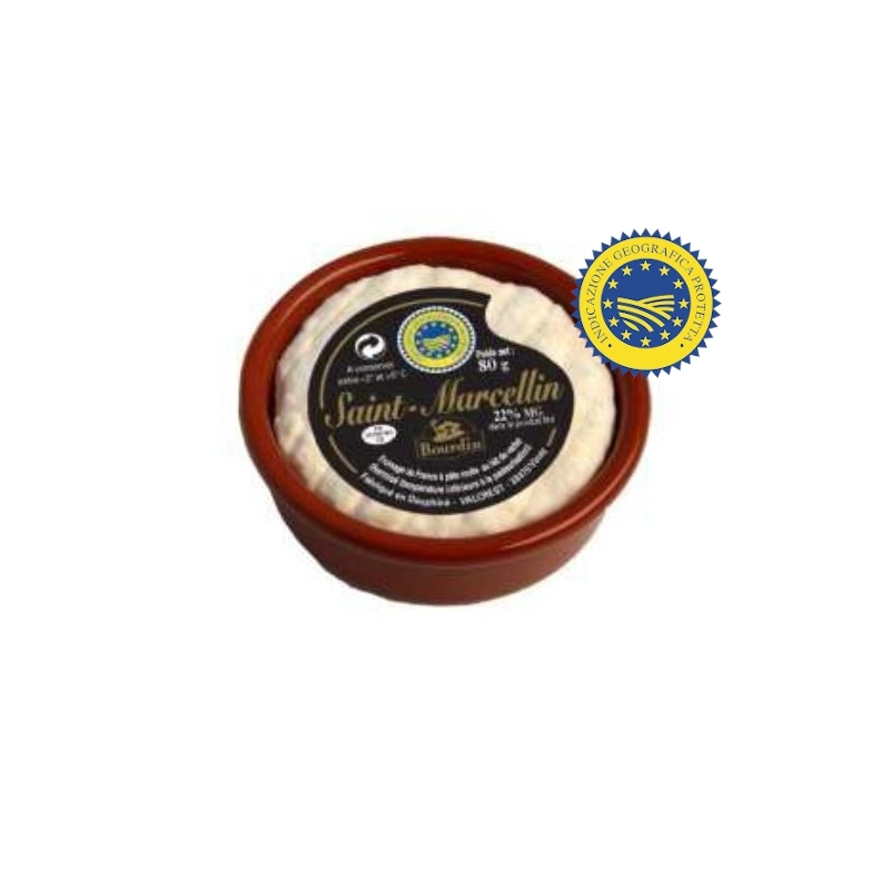 Saint Marcellin PGI in ceramic jar, cow's milk, 80 gr