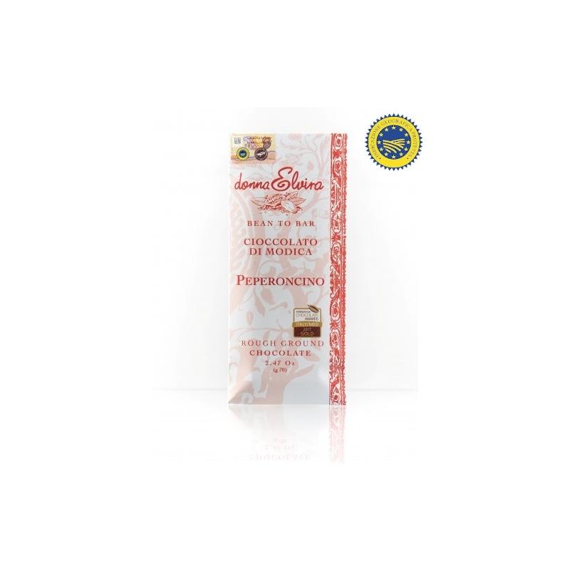 Cioccolato di Modica IGP Peperoncino gr.70 - Donna Elvira