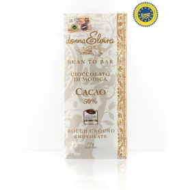 Modica IGP chocolat goût naturel, la tablette 70 gr - Donna Elvira