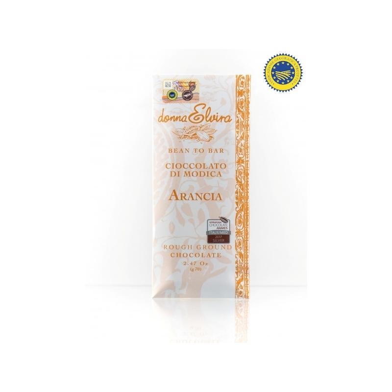 Cioccolato di Modica IGP Arancia gr.70 - Donna Elvira