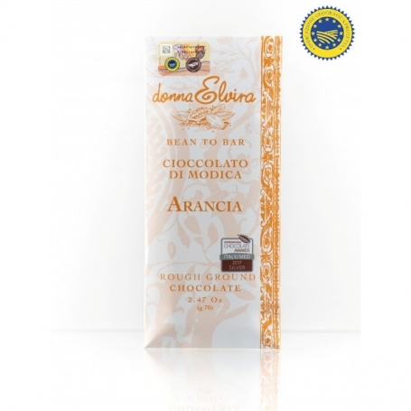 Chocolate IGP modicana Dolceria goût Orange, 70 gr - Donna Elvira