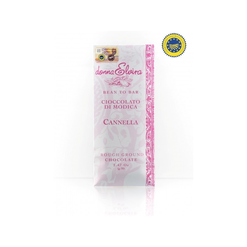 Modica IGP chocolate cinnamon flavor 70 gr - Donna Elvira