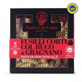 Fusilli corti with the hole Pasta di Gragnano IGP, 500 gr - Pastificio dei Campi