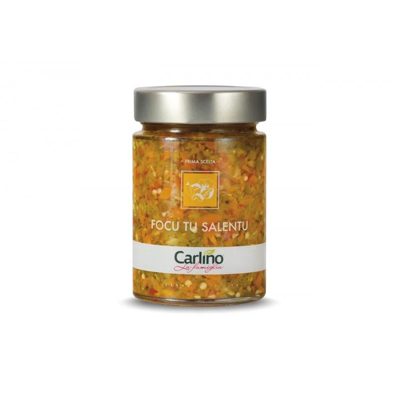 Focu you Salentu in extra virgin olive oil, 285 gr - Carlino